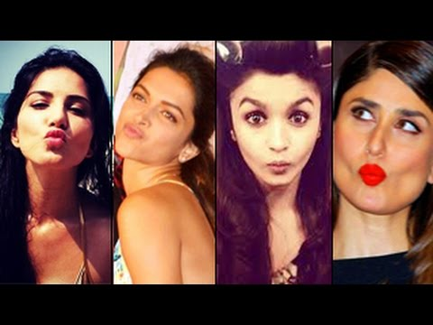 Bollywood actresses with SEXIEST POUTS | Kareena Kapoor, Deepika Padukone, Sunny Leone & MORE!