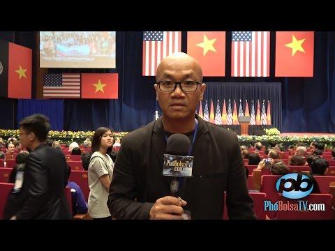 Chuẩn bị nghe Tổng thống Hoa Kỳ Barack Obama nói chuyện tại Hà Nội