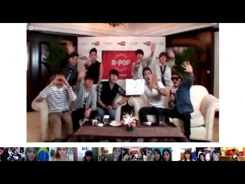 Super Junior _YouTube APOP 'STAR WEEK' Google+ SUPER HANGOUT EVENT