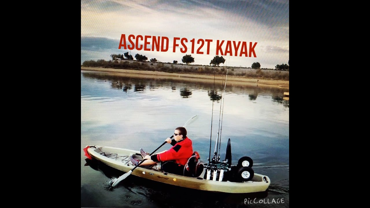 Ascend fs12t sit on top angler kayak fishing central for Ascend fs12t fishing kayak