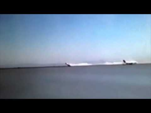 Video of Asiana flight 214 crash at San Francisco Airport SFO RAW VIDEO