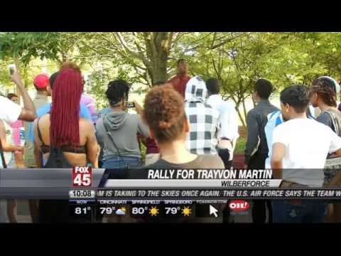 Central State University Students March in Support for Trayvon Martin's Family