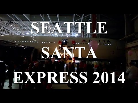 Delta Airlines Seattle Santa Express 2014