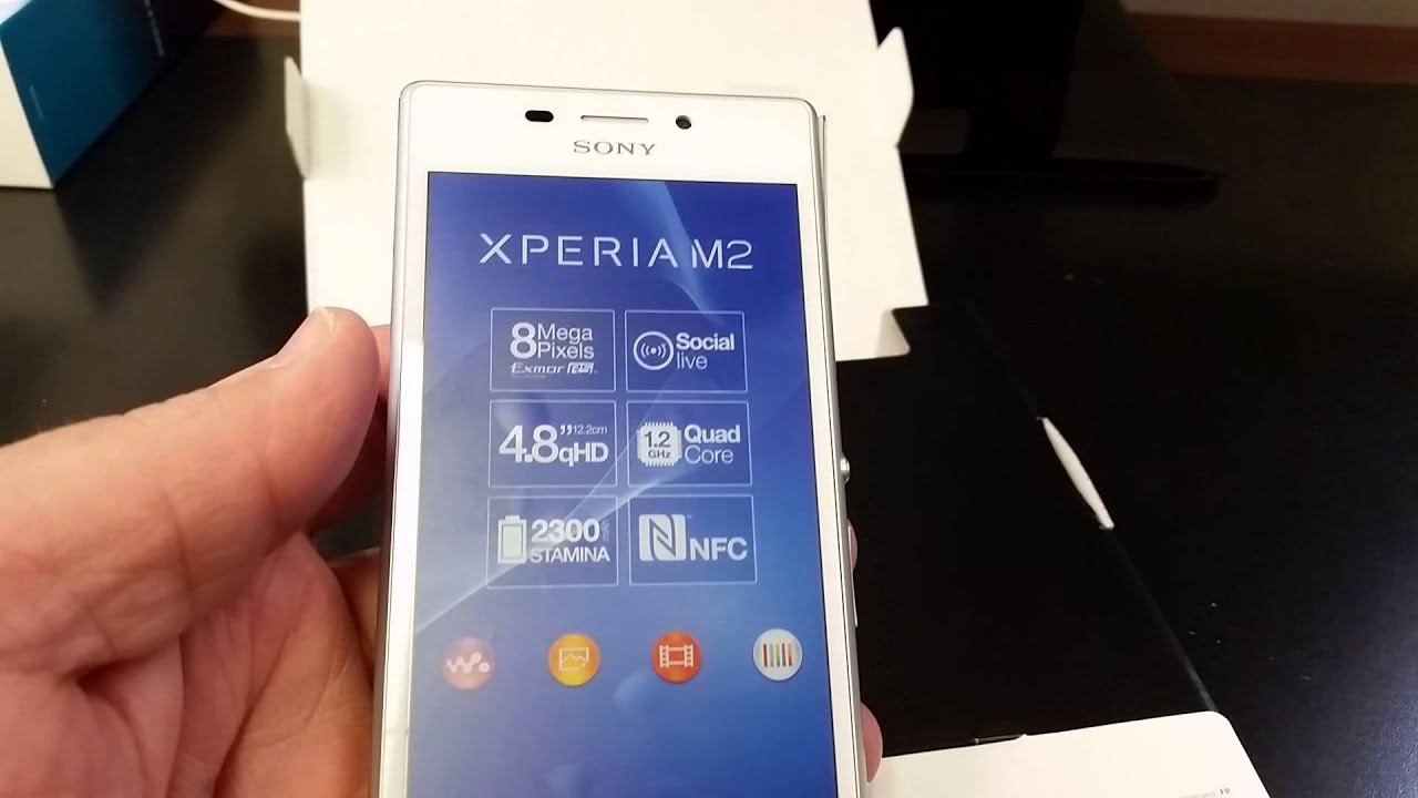 Sony Xperia M2 D2305 Unboxing Video In Stock At Www
