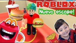 Escape del McDonalds en Roblox   Nuevo Escape McDonalds Obby!   Juegos Roblox para niños