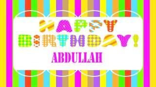 Abdullah   Wishes & Mensajes - Happy Birthday