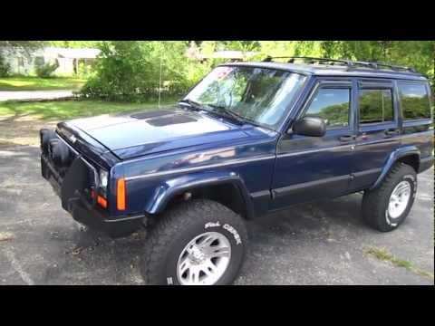 2001 JEEP CHEROKEE SPORT start up, walk around and review