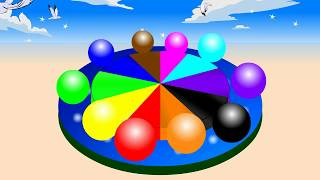 Learn Colors for Kids with Wheel Color Balls for childrens ||Babies basic colors forToddkers, video