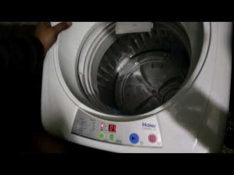 Instructions haier washing machine