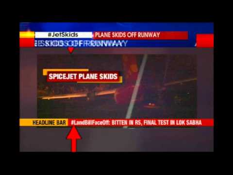 SpiceJet planes skids off runway at Hubli Airport, all passengers safe