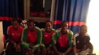 Team SKN at the 8th IAAF World Youth Championships