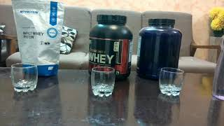 my protein vs whey gold vs ultimate nutrition prostar