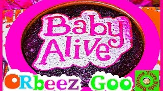 ORBEEZ CRUSH Baby Alive Doll Eats Letters Moshi Goo Learn To Read + Learn How To Do Glitter Painting