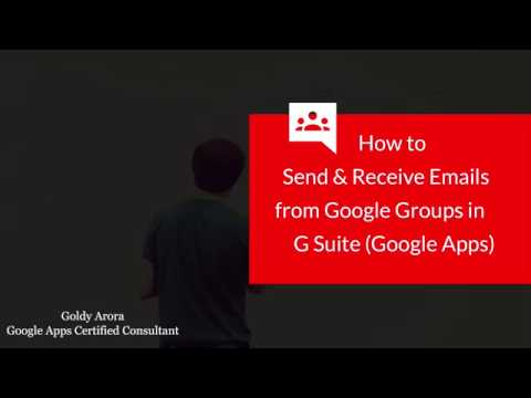 Send and Receive emails from G Suite Groups