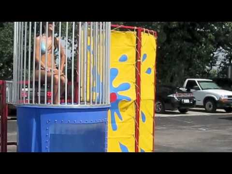 Bikini Model in the Dunk Booth