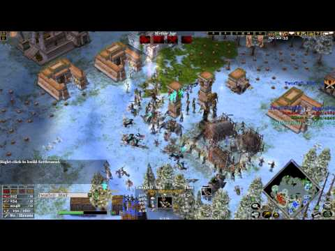 Age of mythology the TITANS 2V2 online match (CLOSE BATTLE)