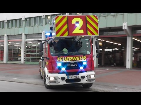 [4 LED FRONTBLITZER NEUE DLK] LÖSCHZUG BF WUPPERTAL FW 1 (HD)