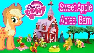 My Little Pony Sweet Apple Acres Barn Party Playset Applejack Family Toy MLP Unboxing Review Video