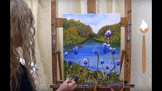 Learn to Paint Wild Mountain Flowers - Paint and Sip at Home