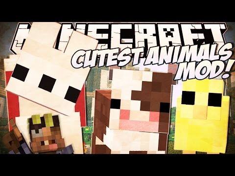 BABY ANIMALS MOD: ANIMALES BEBÉ BONITOS | MINECRAFT 1.8 REVIEW ESPAÑOL