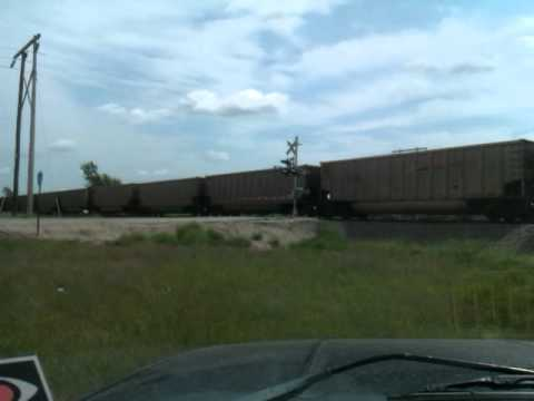 BNSF Coal Train going through Mentor MN