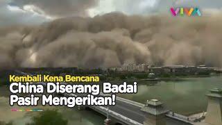 China Kembali Kena Bencana Mengerikan! Badai Pasir Ubah Kota Jadi Menakutkan