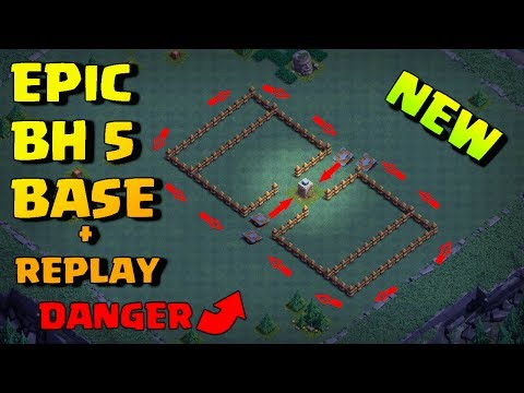 Epic Builder Hall 5 Base (BH5) + Defense Replay / BH5 Base Layout   Clash of Clans