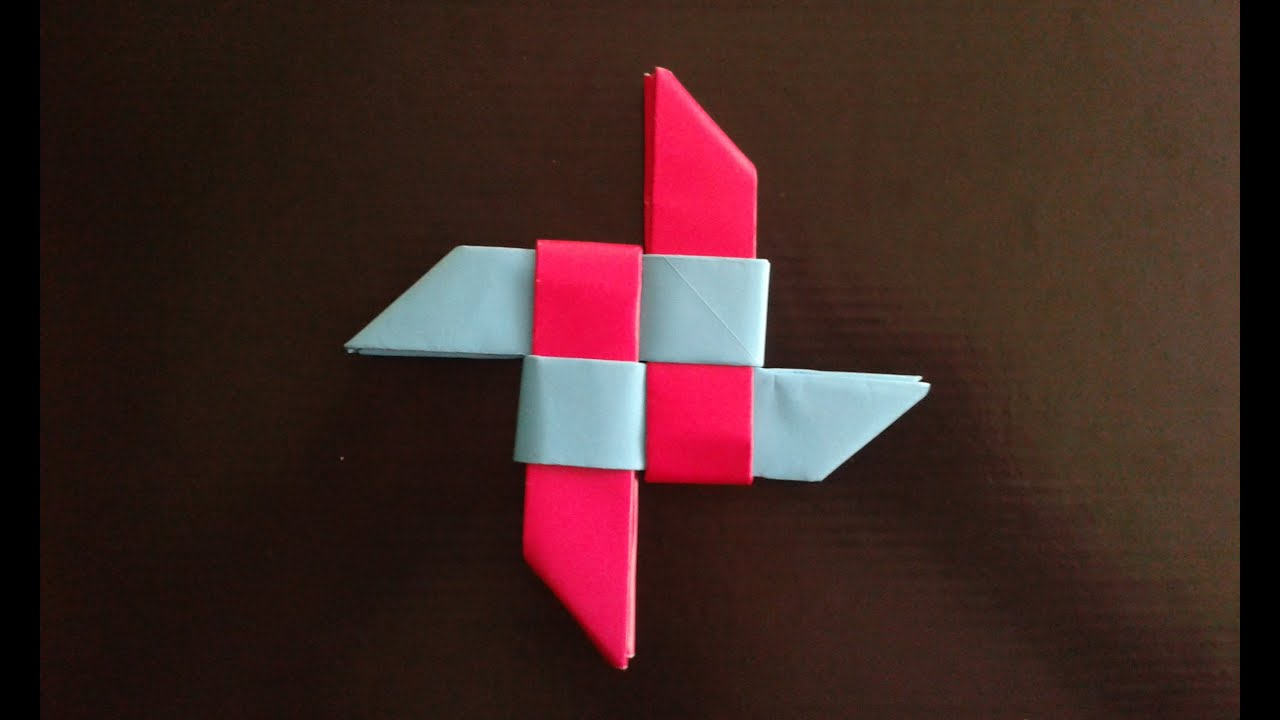 How to Make a Paper Ninja Star Shuriken  Origami  YouTube