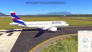 [Xplane] 11.33v Airbus A320 SBFL - SBGR