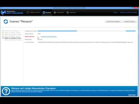 Utilisation de malwarebytes anti-malware
