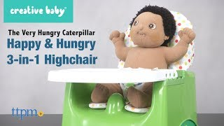 The Very Hungry Caterpillar Happy & Hungry Booster Seat from Creative Baby