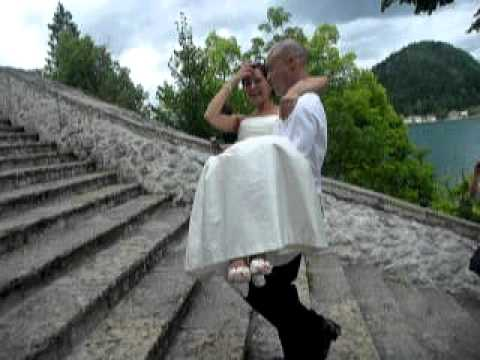 spela and andrews wedding lake bled 99 stairs youtube