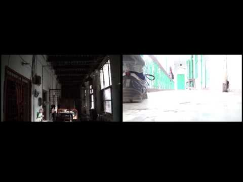 Stuck on Step, public art project, 1mile² Dhaka, double channel video series (sample)