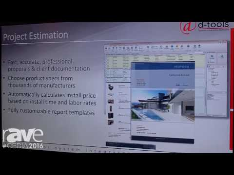 CEDIA 2016: D-Tools Highlights SI 2016 Software for Design, Estimates and Project Managment