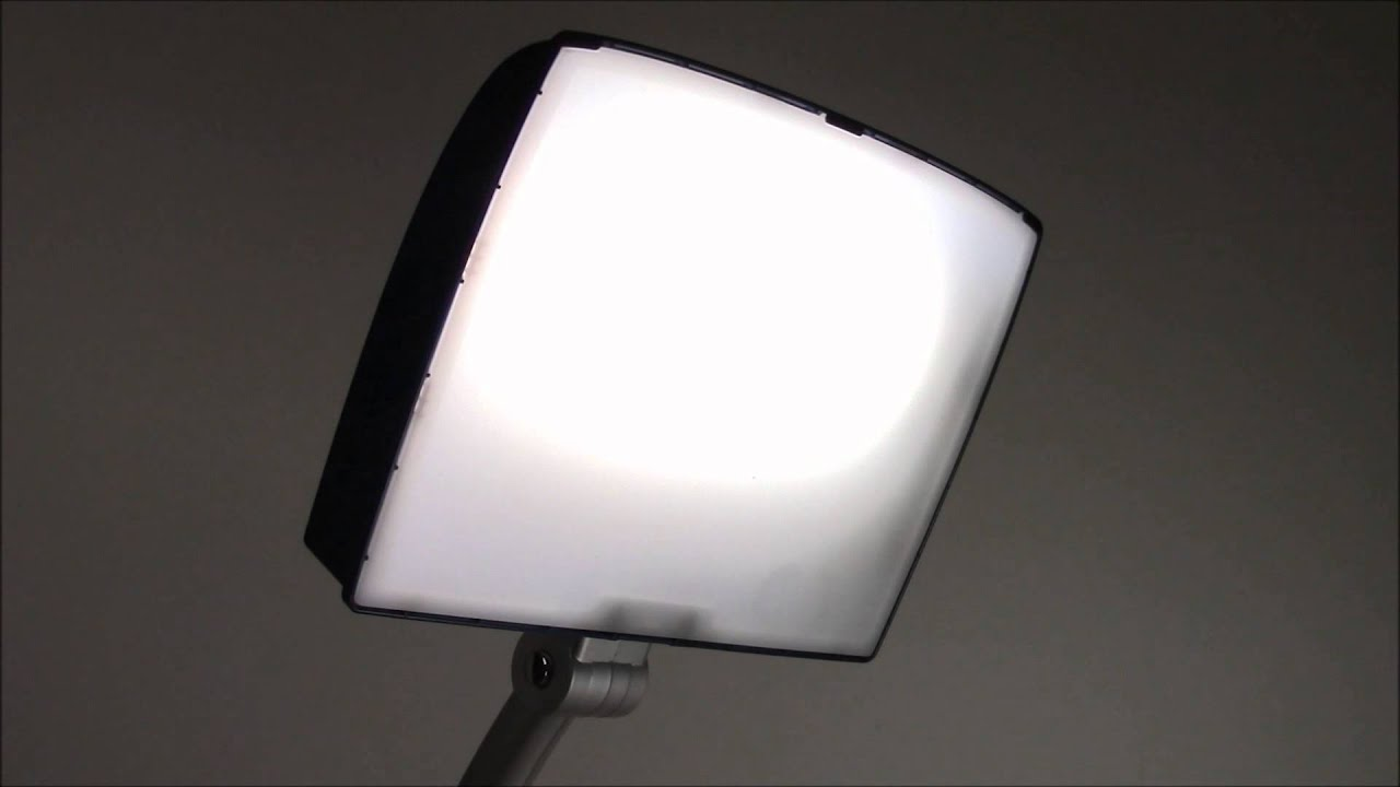 day light sky bright light therapy lamp youtube. Black Bedroom Furniture Sets. Home Design Ideas