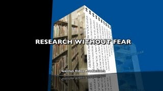 "RESEARCH WITHOUT FEARS - ""The Rough Draft"""