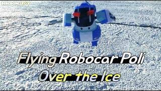 날으는 장난감(Flying Toys) - 자동차 로보카 폴리 빙하 위를 날아요(Flying Car Robocar Poli over the Ice)