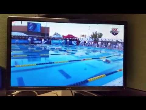 Michael Phelps returns 100m Butterfly at Mesa 16/04/2015