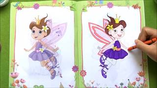 Đồ chơi trẻ em TÔ MÀU TRANH CÔNG CHÚA HOÀNG TỬ | Coloring Prince & Princess (Chim xinh)