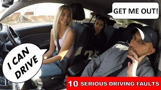 SHE FEARED FOR HER LIFE ON FRIENDS DRIVING TEST!