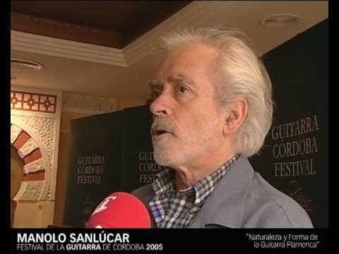 Manolo Sanlucar - Cordoba Guitarra Festival - Programa Formativo