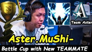 Mushi - [Zeus] Battle Cup with Team Aster (NewTeammate) | Dota 2 7.21 b
