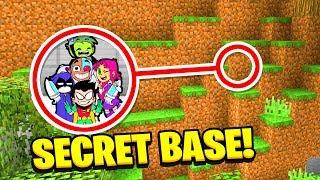Minecraft : WE FOUND TEEN TITANS GO SECRET BASE! (Ps3/Xbox360/PS4/XboxOne/PE/MCPE)
