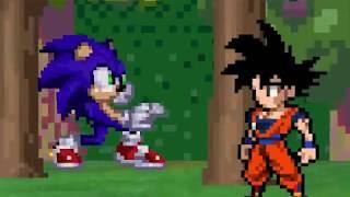 Goku vs Sonic - Sprite Animation
