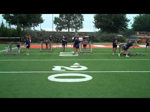 Aug 30 workout - sled push relay