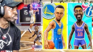 FACING LEGENDS CURRY & CHAMBERLAIN! NBA Playgrounds Gameplay Ep. 11