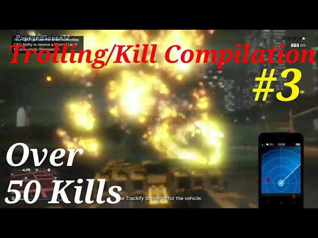 GTA 5 Trolling, kill compilation. 50 kills. Its not safe on the streets of Los Santos