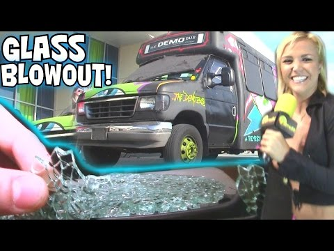 "BASS EXPLODES WINDOW... 3ft From EXO's Face! EXTREME Sound SYSTEM w/ The DEMO BUS & 12 18"" WOOFERS"