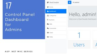 ASP .Net MVC Series - 17 - Control Panel Dashboard for Admins