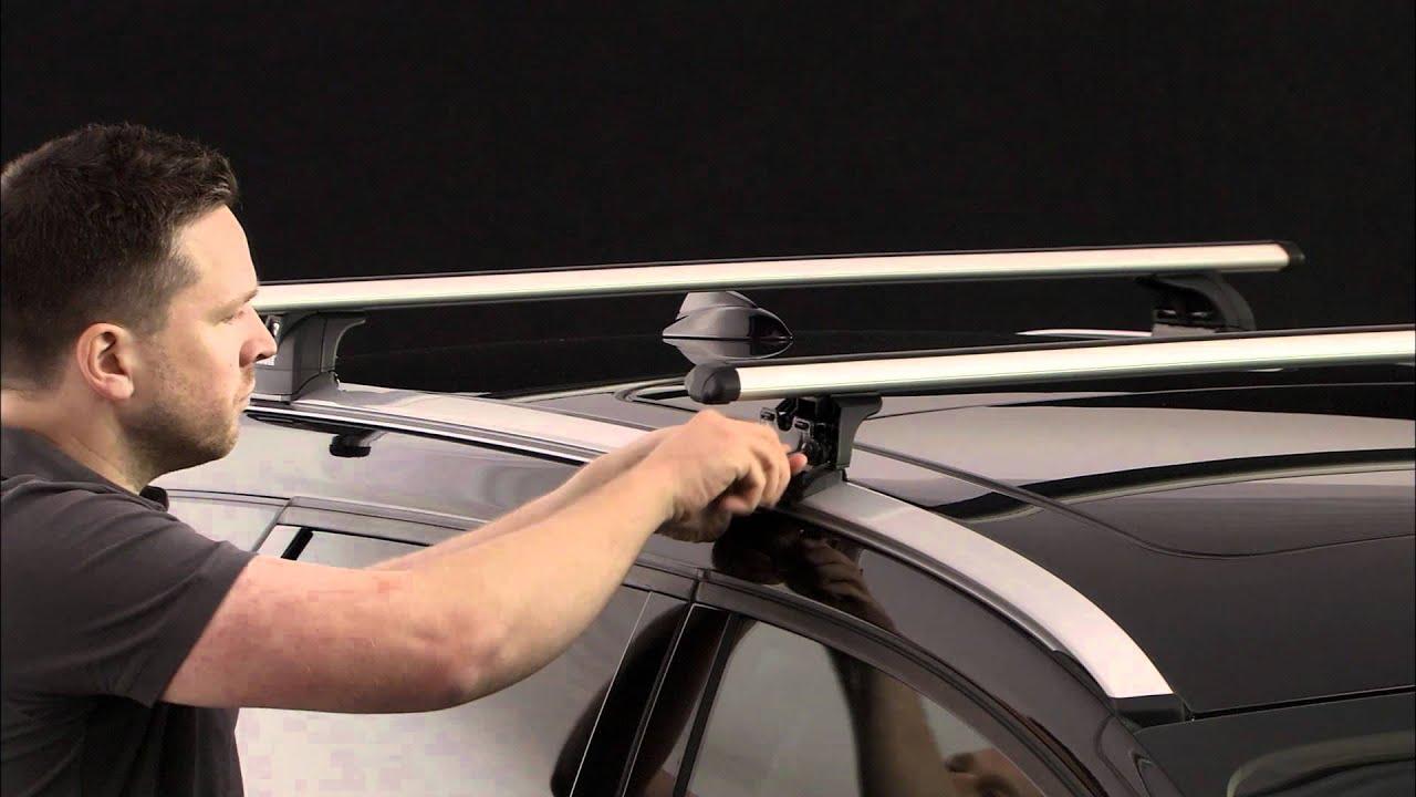 barre de toit thule avec rapid system 753 par autokoo youtube. Black Bedroom Furniture Sets. Home Design Ideas
